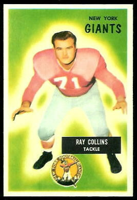 Ray Collins 1955 Bowman football card