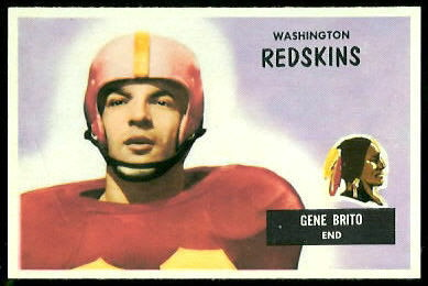 1955 Bowman Gene Brito rookie football card