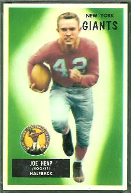 Joe Heap 1955 Bowman football card
