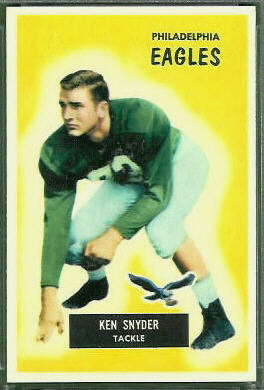 Ken Snyder 1955 Bowman football card