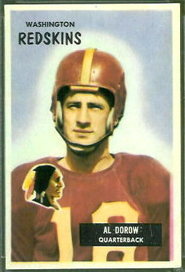 1955 Bowman Al Dorow football card