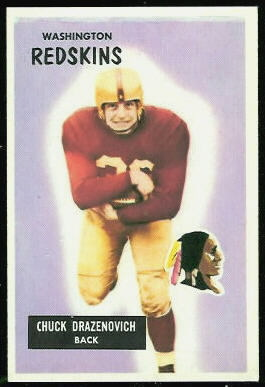 Chuck Drazenovich 1955 Bowman football card