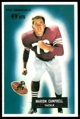 Marion Campbell 1955 Bowman football card