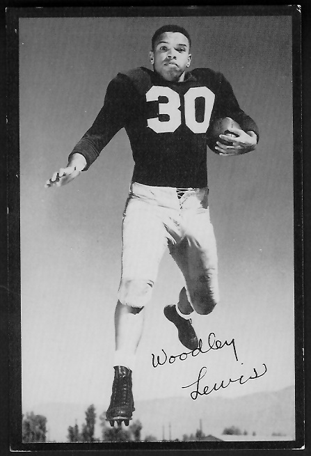 Woodley Lewis 1955 Rams Team Issue football card