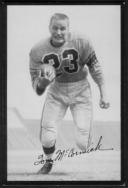 Tom McCormick 1955 Rams Team Issue football card