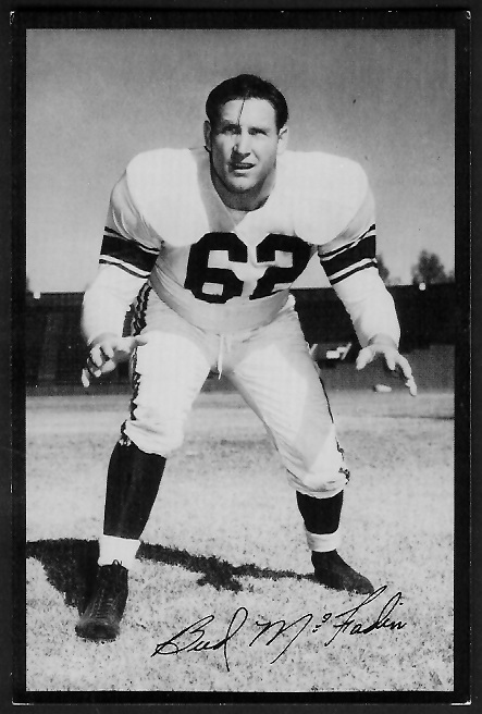 Bud McFadin 1955 Rams Team Issue football card