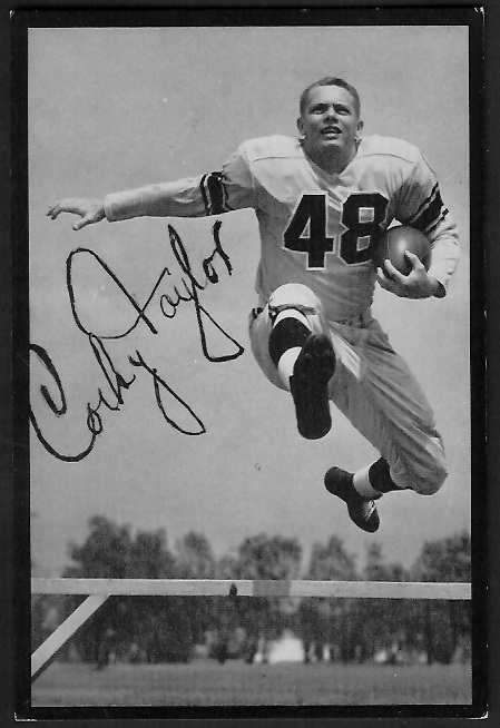 Corky Taylor 1955 Rams Team Issue football card