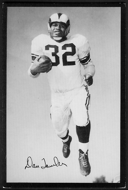 Dan Towler 1955 Rams Team Issue football card