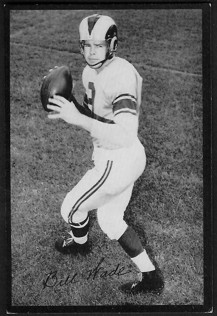 Bill Wade 1955 Rams Team Issue football card