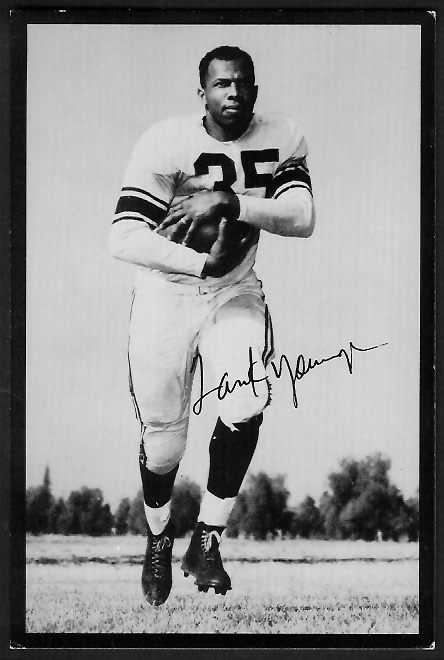 Tank Younger 1955 Rams Team Issue football card