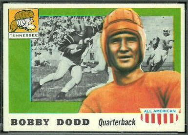 Bobby Dodd 1955 Topps All-American football card