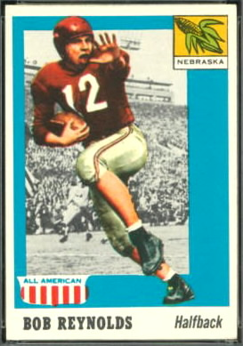 Bob Reynolds 1955 Topps All-American football card