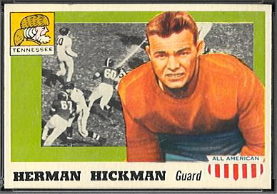 Herman Hickman 1955 Topps All-American football card