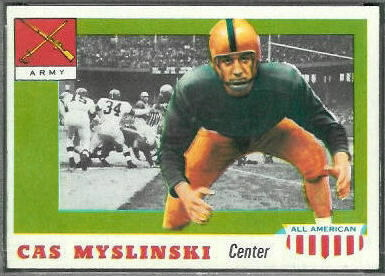 Cas Myslinski 1955 Topps All-American football card
