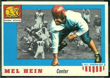 Mel Hein 1955 Topps All-American football card