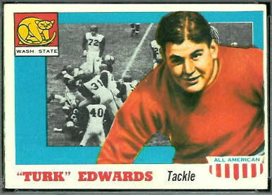 Turk Edwards 1955 Topps All-American football card