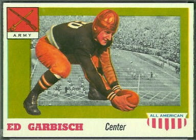Ed Garbisch 1955 Topps All-American football card
