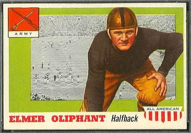 Elmer Oliphant 1955 Topps All-American football card