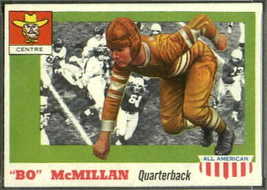 Bo McMillin 1955 Topps All-American rookie football card