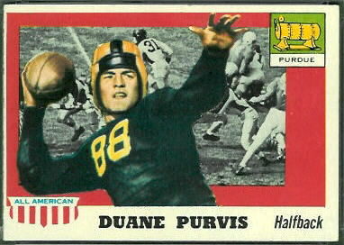 Duane Purvis 1955 Topps All-American football card