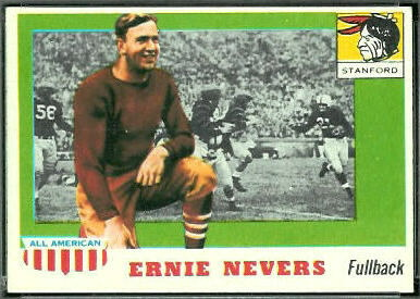 Ernie Nevers 1955 Topps All-American rookie football card