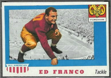 Ed Franco 1955 Topps All-American football card