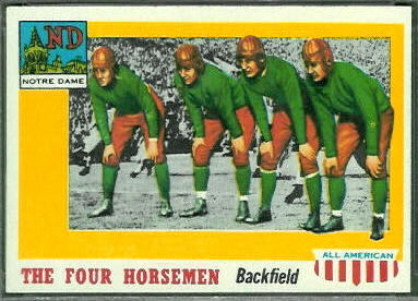 1955 Topps All-American Four Horsemen football card