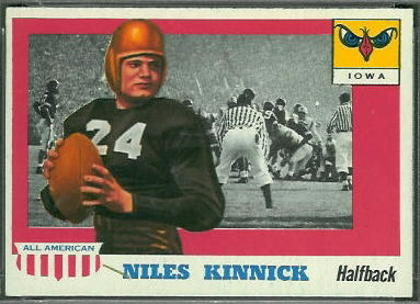 Nile Kinnick 1955 Topps All-American football card