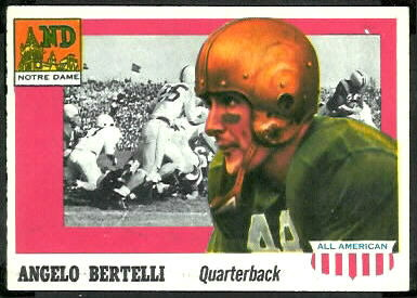 Angelo Bertelli 1955 Topps All-American football card