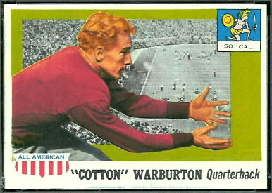 Cotton Warburton 1955 Topps All-American football card