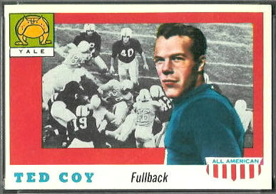 Ted Coy 1955 Topps All-American football card
