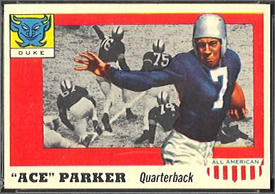 1955 Topps All-American Ace Parker rookie football card