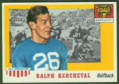 Ralph Kercheval 1955 Topps All-American football card