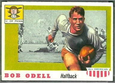 Bob Odell 1955 Topps All-American football card