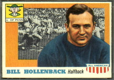 Bill Hollenback 1955 Topps All-American football card