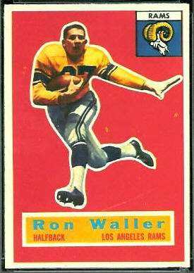Ron Waller 1956 Topps rookie football card