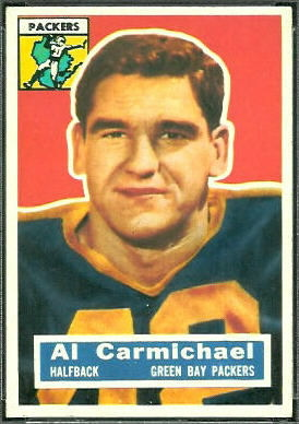 Al Carmichael 1956 Topps football card