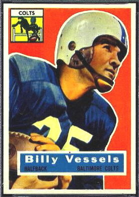 Billy Vessels 1956 Topps football card