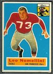 Leo Nomellini 1956 Topps football card