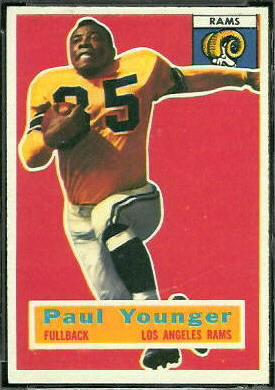 Tank Younger 1956 Topps football card