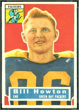Bill Howton 1956 Topps football card