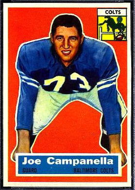 Joe Campanella 1956 Topps football card