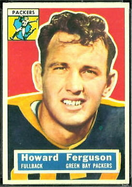 Howard Ferguson 1956 Topps football card