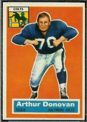 Art Donovan 1956 Topps football card