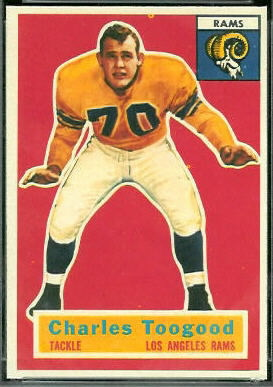 Charles Toogood 1956 Topps football card