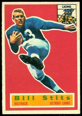 Bill Stits 1956 Topps football card