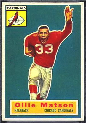 Ollie Matson 1956 Topps football card