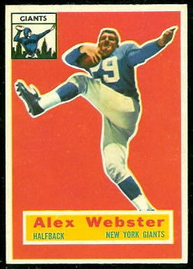Alex Webster 1956 Topps rookie football card