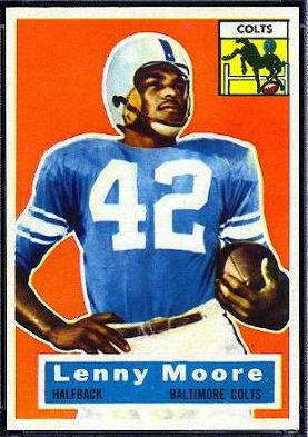 Lenny Moore 1956 Topps football card