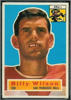 Billy Wilson 1956 Topps football card